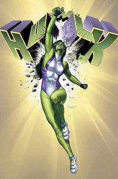 She-Hulk - Jennifer Walters - Marvel Comics - Comic Book Art Marvel Dc Comics, Hulk Marvel, Marvel Heroes, Spiderman, Batman, Poster Marvel, Marvel Women, Comic Book Characters, Marvel Characters