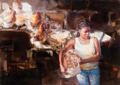 Coop by Mary Whyte | American Watercolor Artist