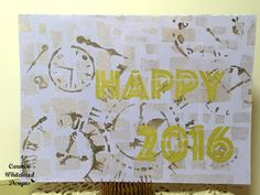 Do you create Happy New Year cards?  My latest creation and tutorial is up on the Bella Crafts Publishing blog...