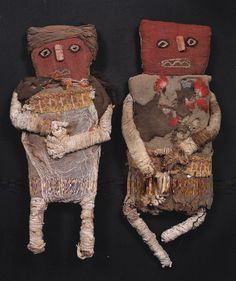 Antique Peruvian folk dolls