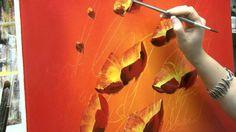 Acrylmalen: Malen lernen, Anleitung zur Mohnblume/ Acrylic painting Tutorial Demo, floral painting, via YouTube.