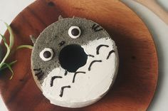 Totoro Black Sesame Chiffon Cake recipe, inspired by the character from My Neighbour Totoro! A fluffy dessert with the taste of Japan. Incredibly simple to make too!