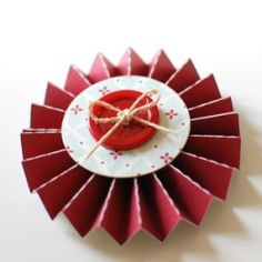 How to Make Paper Lollipop Ornaments