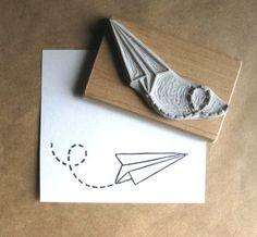 paper plane stamp extase