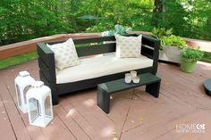 Modern Outdoor DIY Sofa - free build plans