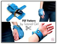Cargo Wrist Wallet - PDF Sewing Pattern by Tutorial Girl at PatternPile.com