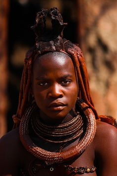 WOMAN FROM NAMIBIA in Southern Africa