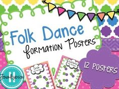 Folk Dance Formation Posters Teaching Music, Teaching Resources, Teaching Ideas, Music Anchor Charts, Elements Of Dance, Music Classroom, Classroom Decor, Dance Program, Middle School Music