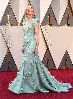 Oscars red carpet hits: Cate Blanchett, Alicia Vikander and the best dresses on the red carpet Cate Blanchett, Best Oscar Dresses, Beautiful Dresses, Nice Dresses, Celebrity Red Carpet, Red Carpet Dresses, Red Carpet Looks, Hollywood Stars, Oscars