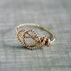 14k Gold Filled Handformed Delicate Sailor's Love Knot ring. This ring is delicately nautical. It's simultaneously unique and wearable for everyday! Best of all, it's handmade.