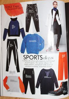 #Sportluxe in Vogue UK November issue #Fashercise
