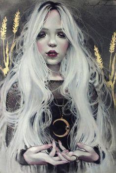 """""""Luna Rose""""  Kristin Baugh Shiraef drawing"""