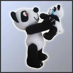 Amigurumi Crochet Pattern  Panda Bears van DeliciousCrochet op Etsy, $6.20