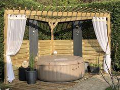 Pergola Designs, Pool Designs, Pergola Ideas, Jacuzzi Outdoor, Outdoor Spa, Deco Spa, California Backyard, Spa Jets, Wooden Gazebo