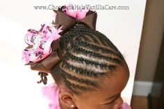 Tried to do this but Addie's hair is not quite long enough.  So cute and sweet