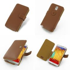 PDair Leather Case for Samsung GALAXY Note3 III LTE SM-N900 SM-N9005 N9000 - Book Type (Brown)