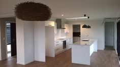 Kitchen ready and waiting for appliances.