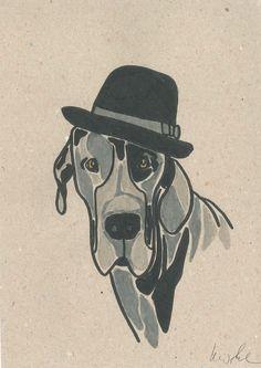 Great Dane Illustration More