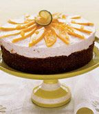 Mango-Pineapple-Lime Cheesecake with Ginger Crust Recipe No Bake Summer Desserts, Tropical Desserts, Lime Desserts, Summer Cakes, Easy Desserts, Ginger Cheesecake Recipe, Lime Cheesecake, Cheesecake Recipes, Jello Recipes