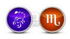scorpio Zodiac Symbol with white background