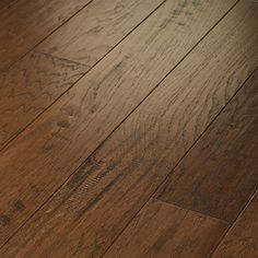 "Shaw Floors Epic Pebble Hill 5"" Engineered Hickory Flooring in Burnt Barnboard"