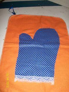 Mão Flanela Azul - Preço: 10,00