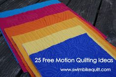 25 Free Motion Quilting Ideas: Part 2
