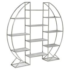 Opal Modern Stainless Steel Round Silver Etagere | Kathy Kuo Home