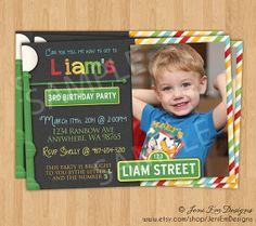 Sesame Street Birthday Invitation With Photo - Printable, For Boys & Girls