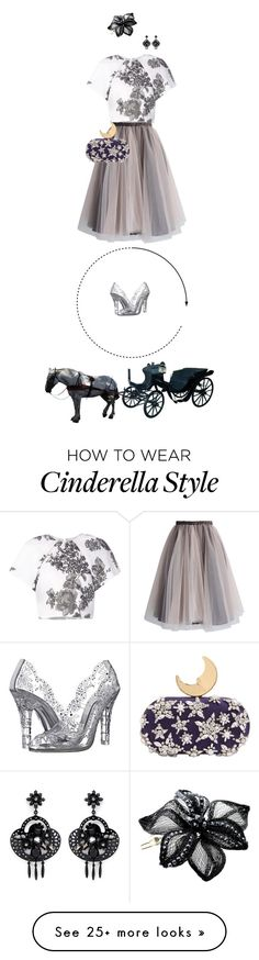 """""""There was no way she was losing these shoes at midnight!"""" by fsommerv on Polyvore featuring mode, Monique Lhuillier, Dolce&Gabbana, Chicwish, Benedetta Bruzziches, Colette Malouf en J.Crew"""