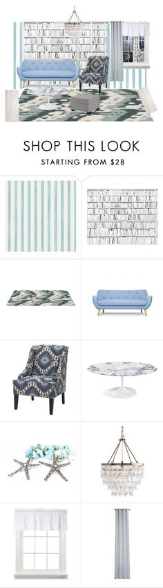 """""""NYC PENTHOUSE LIVING ROOM"""" by shaniq123 ❤ liked on Polyvore featuring interior, interiors, interior design, home, home decor, interior decorating, Christian Lacroix, CB2, Pottery Barn and living room"""