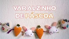 DIY Varalzinho de Páscoa - Enfeites de Páscoa Passo a Passo