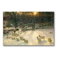 Trademark Fine Art The Shortening Winter's Day by Joseph…