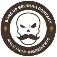 """Bone Up Brewing Company in Everett, MA - taproom open 12 to 11p Saturdays; 12 to 6p Sundays. Flights and full pours in the taproom and growlers to go. The current selection includes a key lime white ale, a session IPA described as """"fruity, earthy, and perky,"""" a """"playful"""" farmhouse ale, and more."""