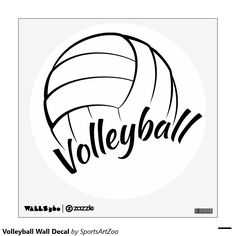 Volleyball Wall Decal