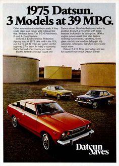Image detail for -description 1975 datsun b210 model line original vintage advertisement ...my first car, loved it!