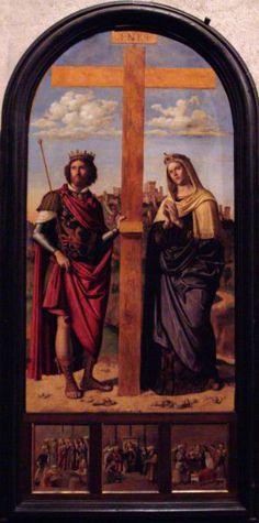 Cima da Conegliano - Constantine the Great, Emperor of Rome and his Mother, Helena.