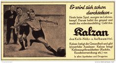 Original-Werbung/ Anzeige 1939 - KALZAN / MOTIV FUSSBALL - ca. 140 x 75 mm