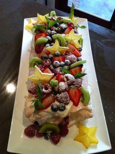 Stargazer Pavlova Roll Recipe on Best Home Chef Pavlova Recipe, Good Food, Yummy Food, World Recipes, Rolls Recipe, How Sweet Eats, Snack, Christmas Desserts, High Tea