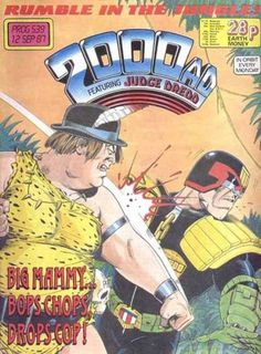 The cover to 2000 AD, Prog 539 (1987), art by Steve Dillon