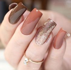 Classy Nails, Stylish Nails, Trendy Nails, Bling Nails, Swag Nails, Nail Paint Shades, Gel Nails, Manicure, November Nails