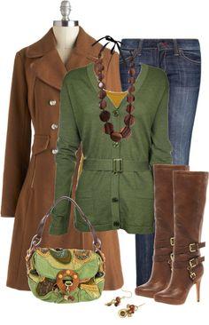 """Earth Tones in the Winter"" by exaybachay on Polyvore"