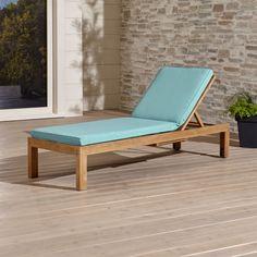 Regatta Chaise Lounge with Sunbrella ® Cushion | Crate and Barrel