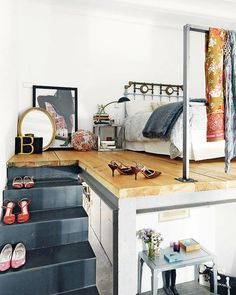 """SF Girly by Bay's """"IN MY DREAMS, I LIVE HERE: BERLIN."""" This is a great bedroom. Spacious and clean (minus the shoe clutter), but we all have to be realistic don't we? LOL."""
