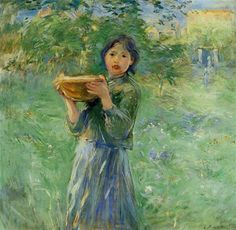 The Bowl of Milk Berthe Morisot, 1890, oil on canvas