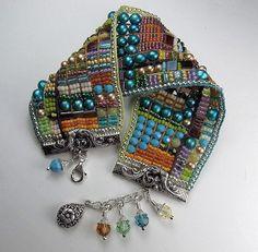 :-) loom woven multi-colored bracelet