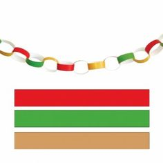 Green And Red Crepe Paper Streamers  Christmas Decoration Ideas