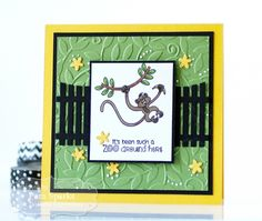 Wild About You Card by Pam Sparks #Cardmaking, #Critters, #EmbossingFolders, #TE, #ShareJoy