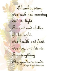 Thanksgiving Image, Fall Leaves Image, Emerson Thanksgiving Prayer Quote, Wall Art, Autumn Wall Décor, Family Room, Dining Room Décor,Prayer by DigitalArtMovement on Etsy