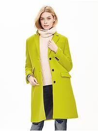Three-Button Tailored Coat